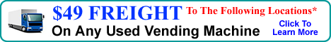 129 Used Vending Machine Freight Special