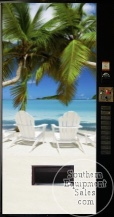 Vendo 500 Series Drink Machine With Beach Front
