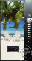 Dixie Narco 501E Can & Bottle Drink Machine With Beach Front