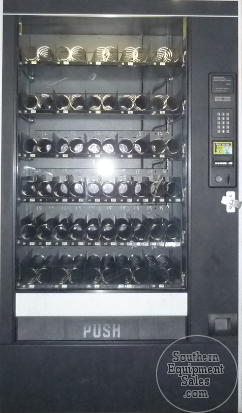 Automatic Products Studio 3 Snack Machine With Dollar Bill Validator And Golden Parts & Accessories Vending & Tabletop Concessions
